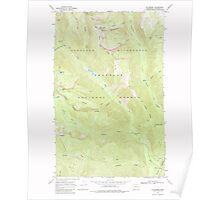 USGS Topo Map Washington State WA Mt Barney 242616 1969 24000 Poster