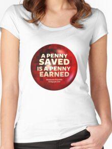 ECONOMICS & MONEY Women's Fitted Scoop T-Shirt