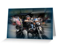 Happy Harley biker Greeting Card