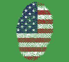 American Fingerprint Flag Kids Clothes