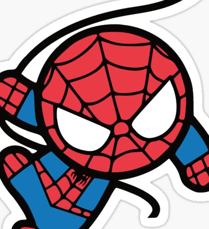 Crazy spider man Sticker