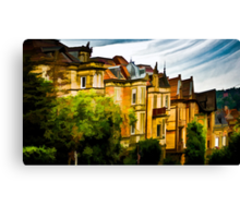 The Town Houses Canvas Print