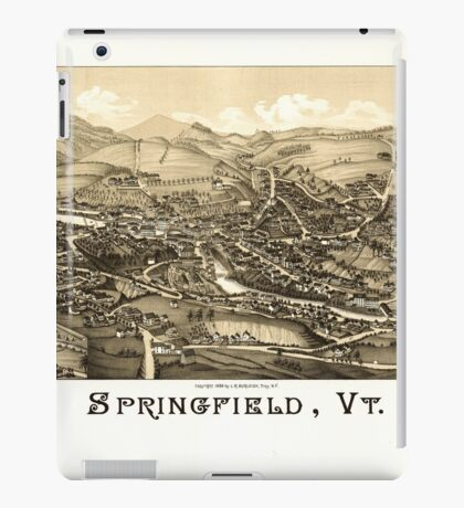 Panoramic Maps Springfield Vt iPad Case/Skin