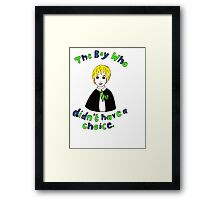 The Boy Who Didn't Have A Choice Framed Print