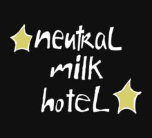 Neutral Milk Hotel (Everything Is) - White on Black Version by AdrienneOrpheus
