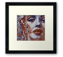 Deep Inside I'm Blue ( So Take A Good Look At My Face ) Framed Print