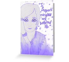 Luna Lovegood - Nargles Greeting Card