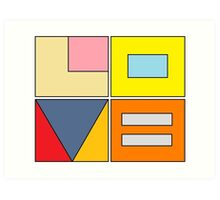 love blocks Art Print