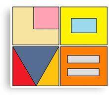 love blocks Canvas Print