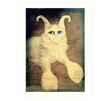 Nobody loves me because I have a big nose, but I do have beautiful eyes. Art Print