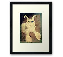 Nobody loves me because I have a big nose, but I do have beautiful eyes. Framed Print