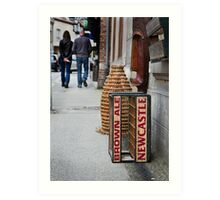 Newcastle Brown Ale Crate Art Print