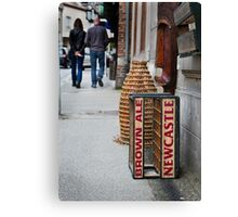 Newcastle Brown Ale Crate Canvas Print