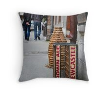 Newcastle Brown Ale Crate Throw Pillow