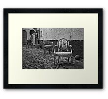 Vintage Chairs Framed Print