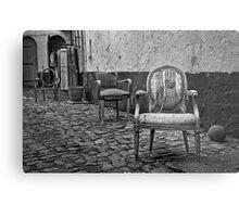 Vintage Chairs Metal Print