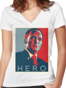 Hero Women's Fitted V-Neck T-Shirt