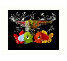 Two Toy Fish Kissing Art Print