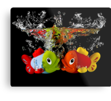 Two Toy Fish Kissing Metal Print