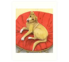 Pitbull Lab Mix Puppy Dog Cathy Peek Pets Art Print