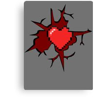 8-bit hearth Canvas Print