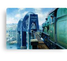Brunel's Saltash bridge. Canvas Print