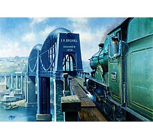 Brunel's Saltash bridge. Photographic Print