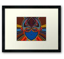 blue face Framed Print