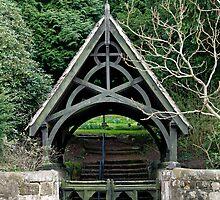 Lychgate to St Peter's Churchyard, Alton  by Rod Johnson