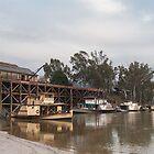 The Port of Echuca Victoria Australia by Tony Theobald