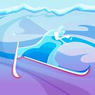 Abstract Skier  by SFDesignstudio