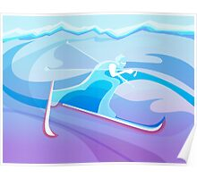 Abstract Skier  Poster