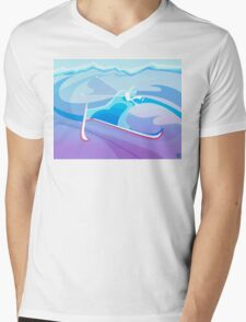 Abstract Skier  Mens V-Neck T-Shirt