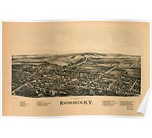 Panoramic Maps Rhinebeck NY Poster