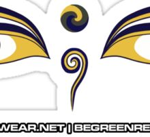 Crunk Eco Wear | Be Green Records Merch | Buddha Eyes 33 Sticker