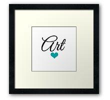 Love Art Teal Framed Print