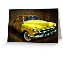 Ghost Car - 1950 Chevrolet Greeting Card