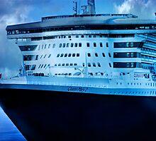 Queen Mary 2 - Woolloomooloo Bay, Sydney, NSW by Mark Richards