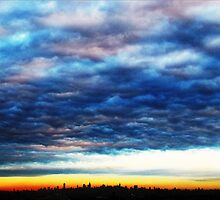 Clouds over New York City by Alberto  DeJesus