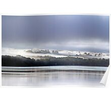 Early Morning Fog Lifting - Ottawa River Poster