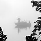 Fishing in the Fog, Ottawa River by Debbie Pinard
