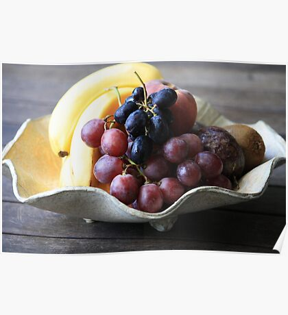 Fruit in a Pottery Bowl Poster