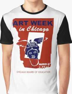 Retro vintage Chicago Art Week Graphic T-Shirt