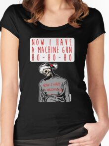 Ho-Ho-Ho Die Hard Christmas Women's Fitted Scoop T-Shirt