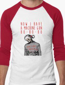 Ho-Ho-Ho Die Hard Christmas Men's Baseball ¾ T-Shirt