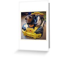 Officers Willow and Pond are on duty Greeting Card