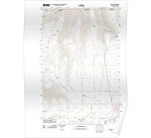 USGS Topo Map Oregon OR Flora 20110808 TM Poster