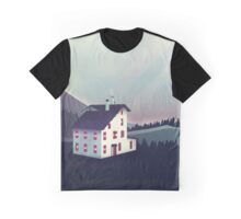 Castle in the Mountains Graphic T-Shirt