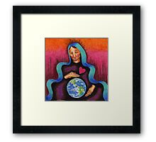 Earth Mother Mary Framed Print