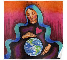Earth Mother Mary Poster